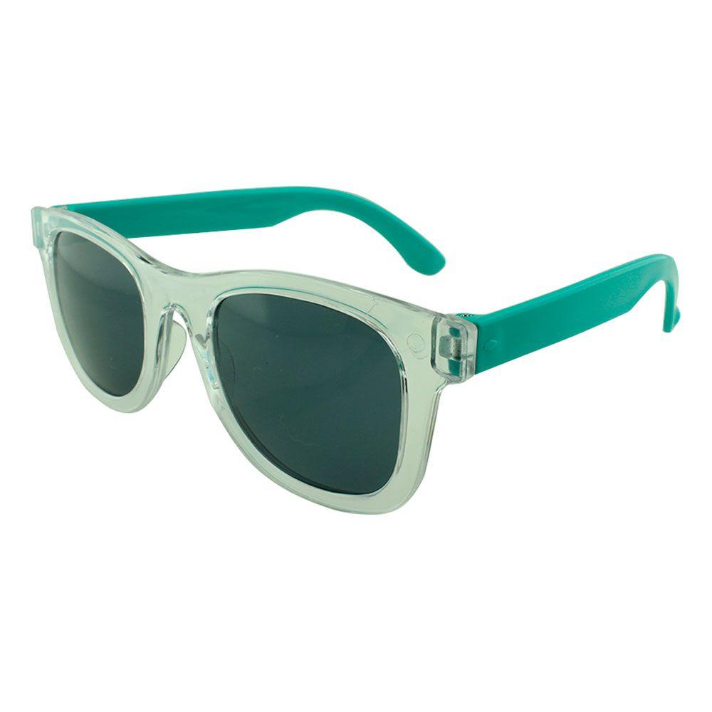 Óculos Solar para Brinde Infantil 843 Transparente com Turquesa (SOB ENCOMENDA)