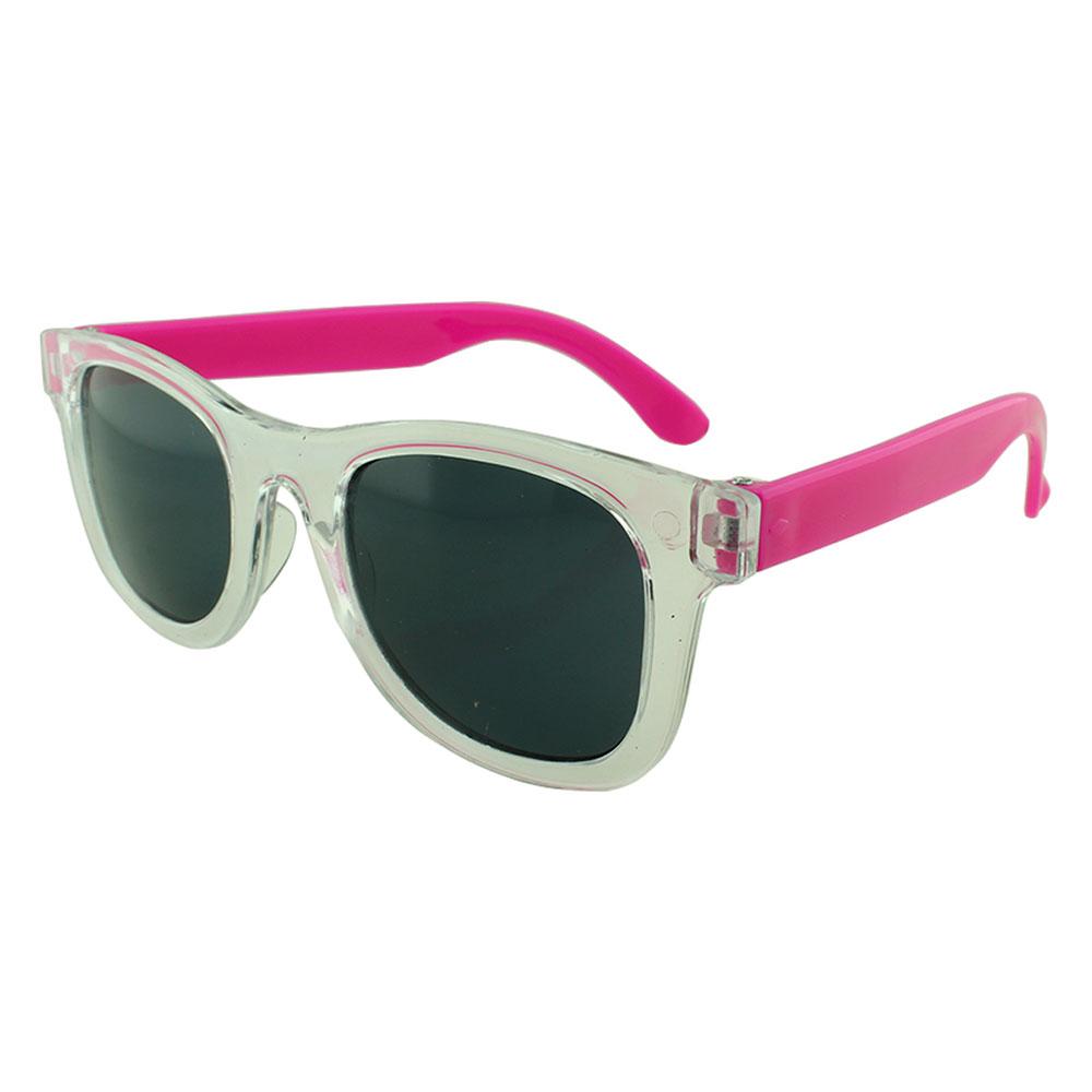 Óculos Solar para Brinde Infantil 843 Transparente e Rosa (SOB ENCOMENDA)