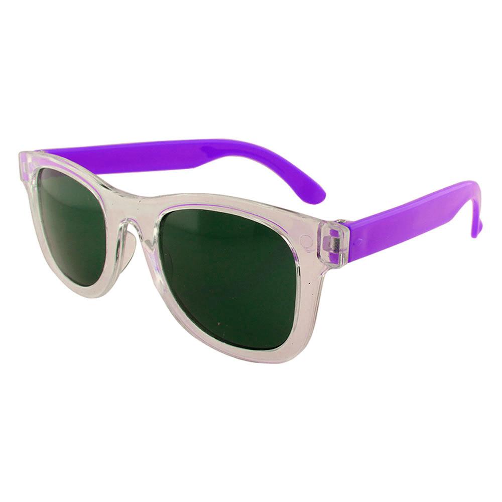 Óculos Solar para Brinde Infantil 843 Transparente e Roxo (SOB ENCOMENDA)