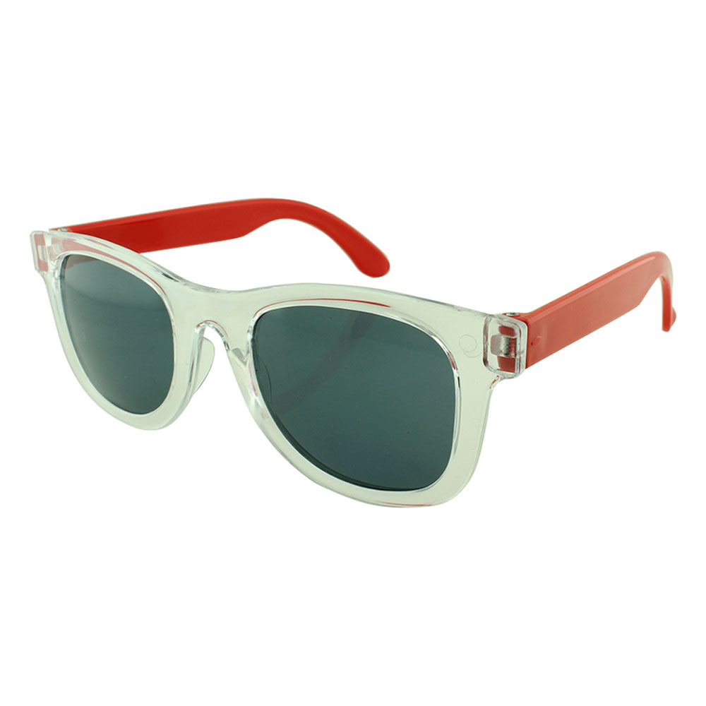 Óculos Solar para Brinde Infantil 843 Transparente e Vermelho (SOB ENCOMENDA)