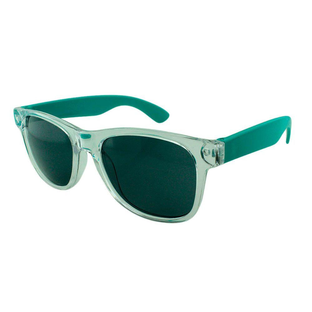 Óculos Solar para Brinde Unissex 743S Transparente com Turquesa (SOB ENCOMENDA)