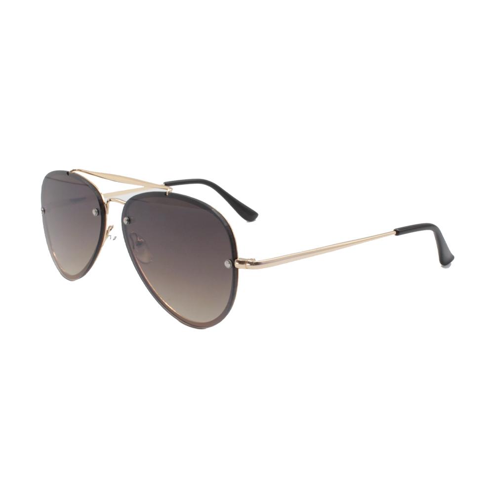 Óculos Solar Unissex Aviador ZB019 Dourado e Marrom