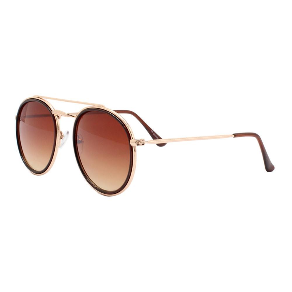 Óculos Solar Unissex H02135 Dourado e Marrom