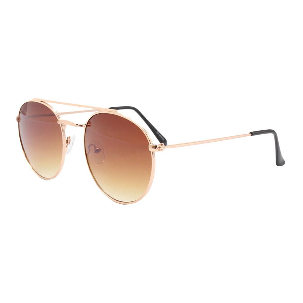 Óculos Solar Unissex H02137 Marrom Degradê