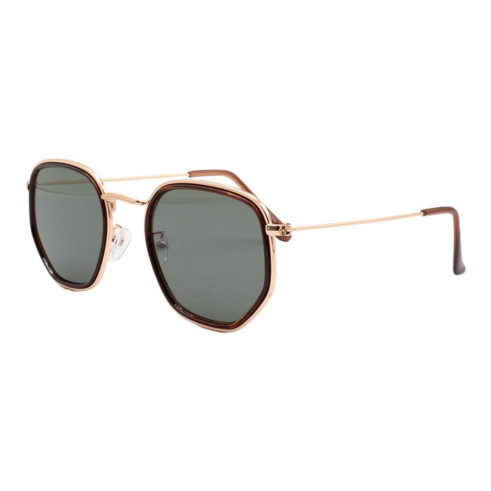 Óculos Solar Unissex H02290 Dourado e Verde