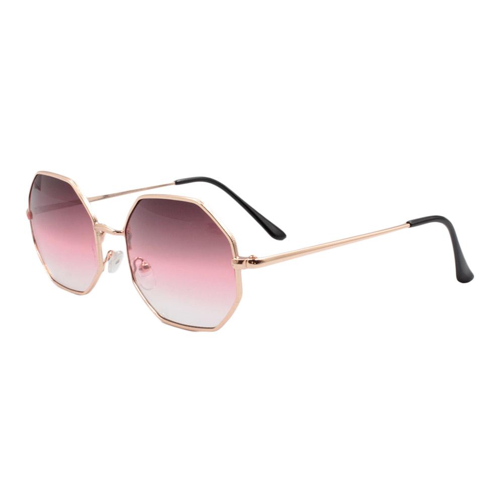 Óculos Solar Unissex H02293-C7 Dourado e Vinho