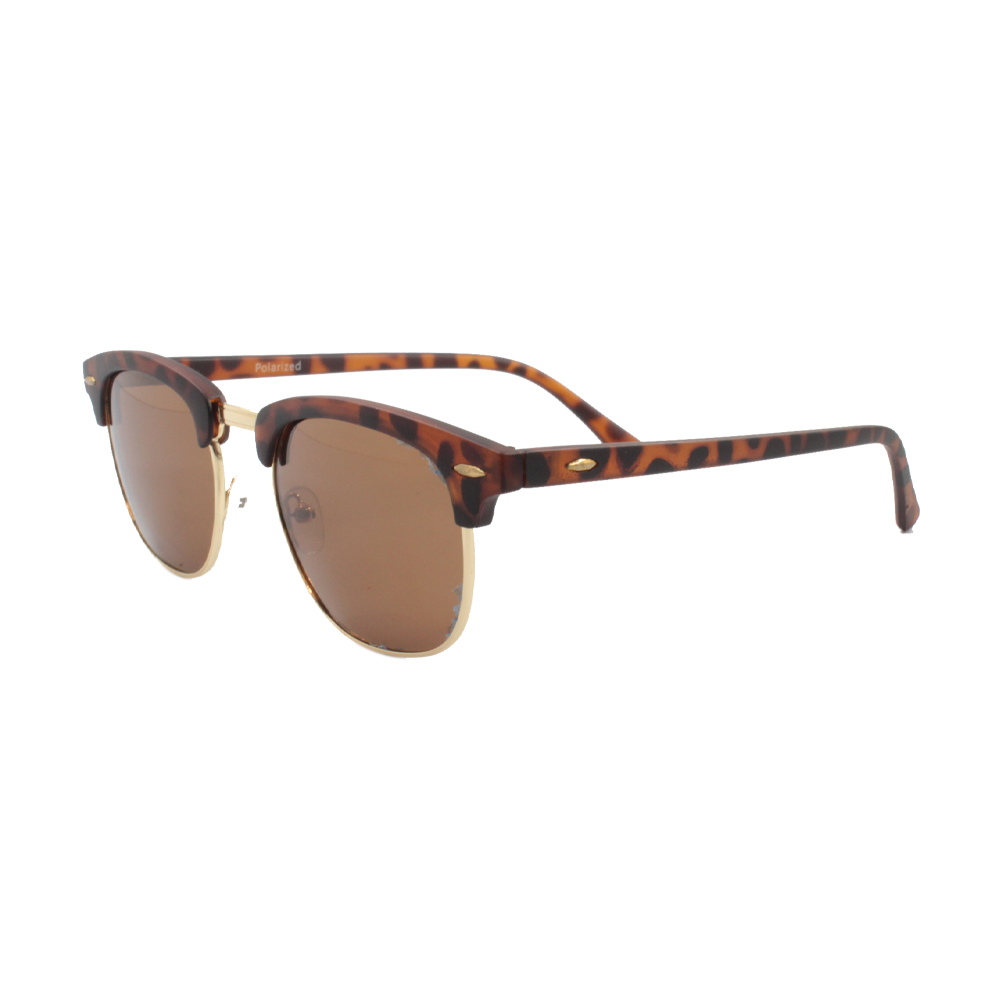 Óculos Solar Unissex Polarizado HP2563P-C5 Dourado e Marrom Mesclado