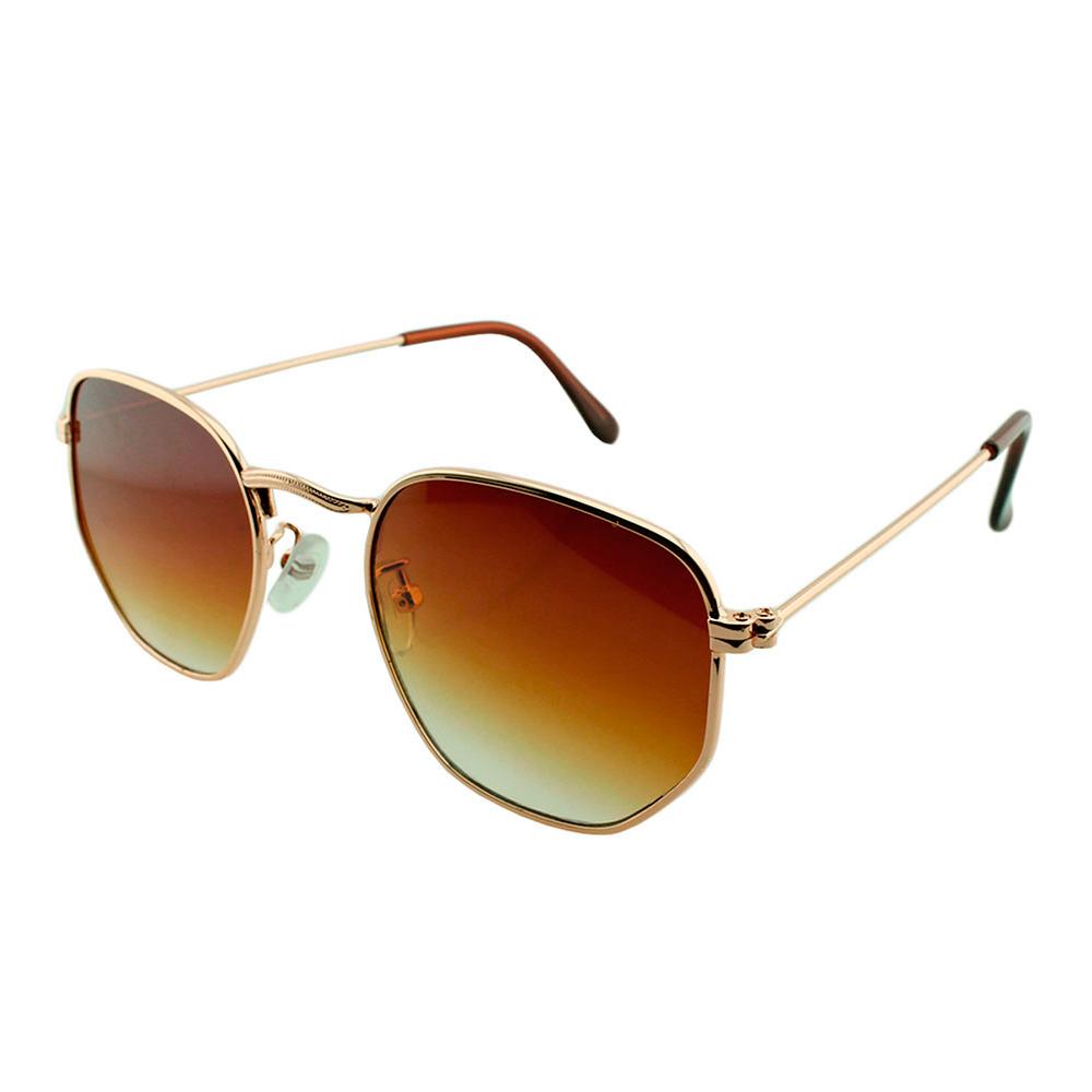 Óculos Solar Unissex Primeira Linha 3548 Dourado e Marrom