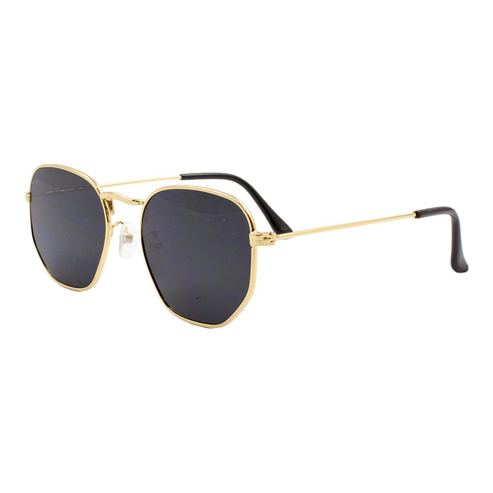 Óculos Solar Unissex Primeira Linha 3548 Dourado e Preto