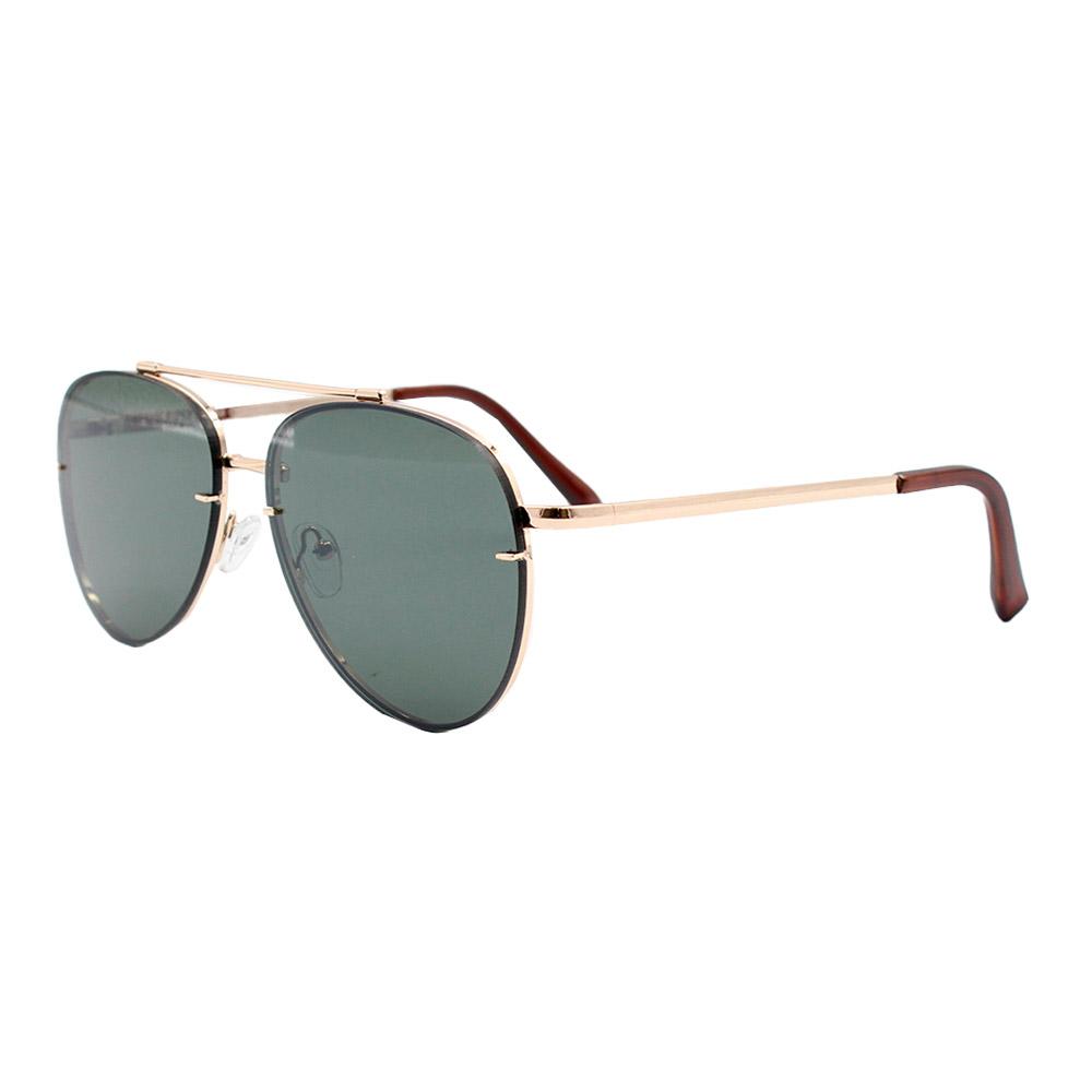 Óculos Solar Unissex Primeira Linha Aviador DO71018 Dourado e Verde