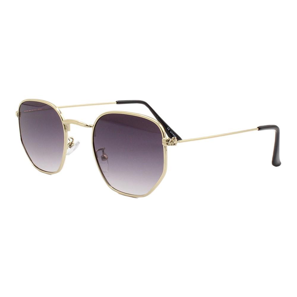 Óculos Solar Unissex Primeira Linha H02205 Dourado e Preto