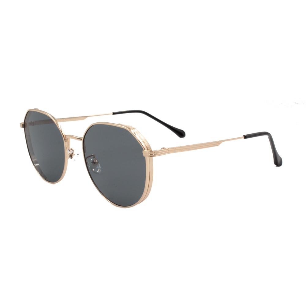 Óculos Solar Unissex Primeira Linha ZB003 Dourado e Preto