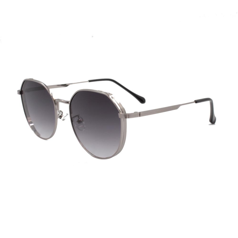 Óculos Solar Unissex Primeira Linha ZB003 Prata e Preto