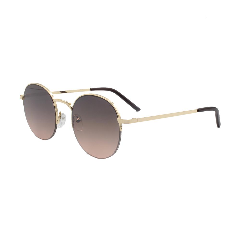 Óculos Solar Unissex ZB013 Dourado e Marrom