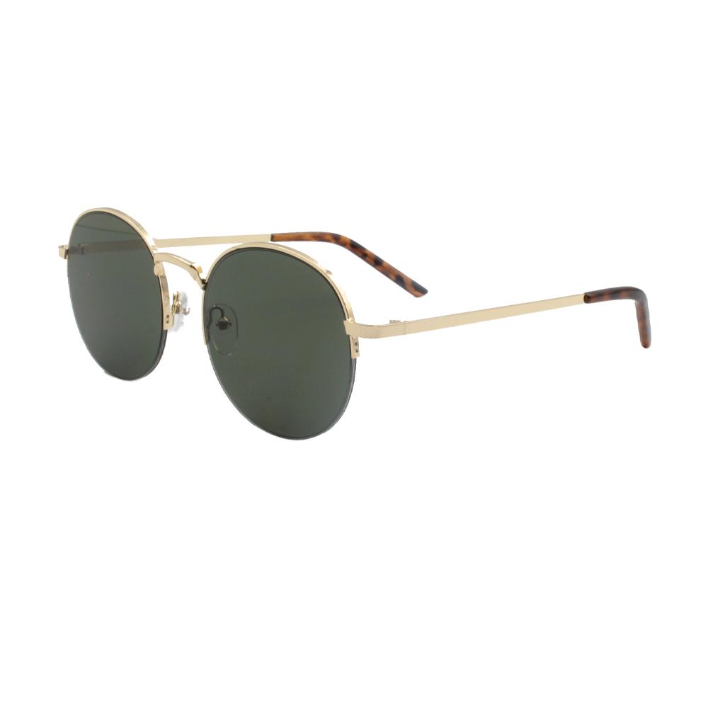 Óculos Solar Unissex ZB013 Dourado e Verde