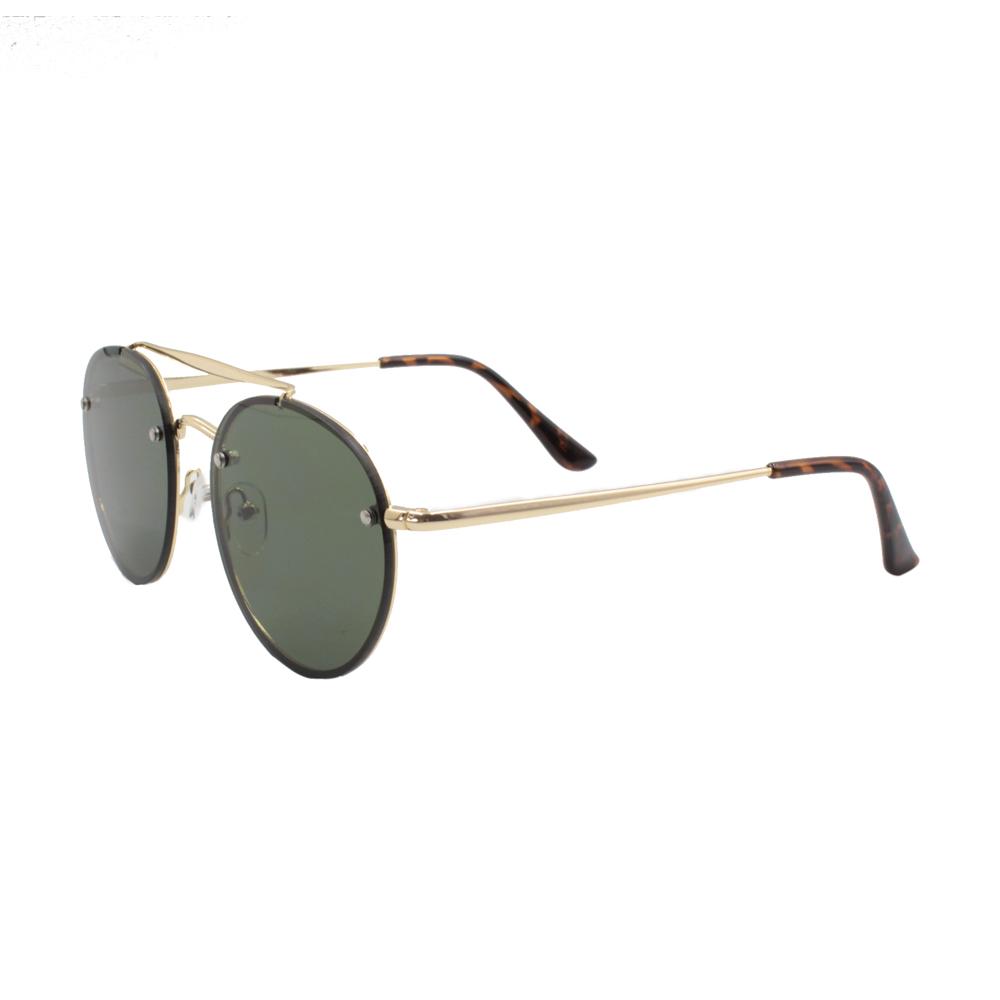 Óculos Solar Unissex ZB018 Dourado e Verde