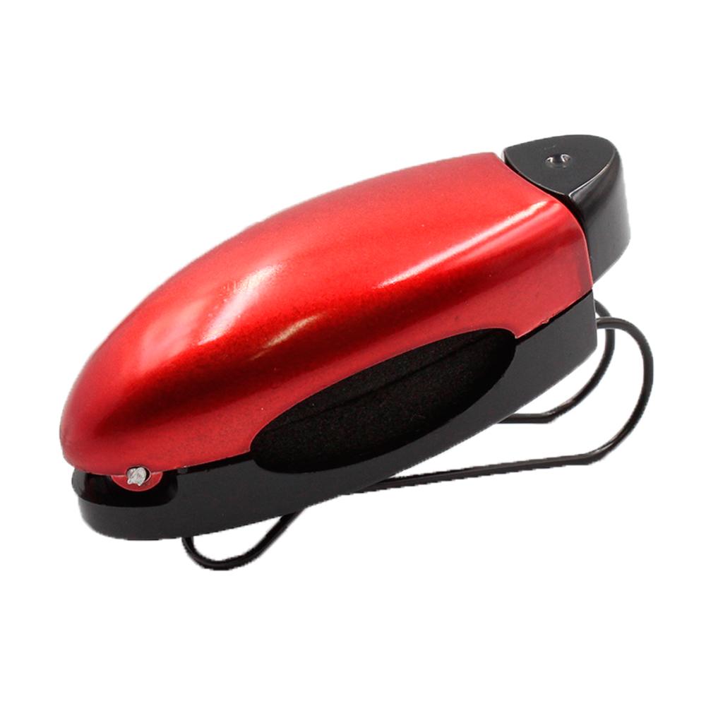 Porta Óculos Veicular para Quebra Sol Clip Car P108 Vermelho - Unidade