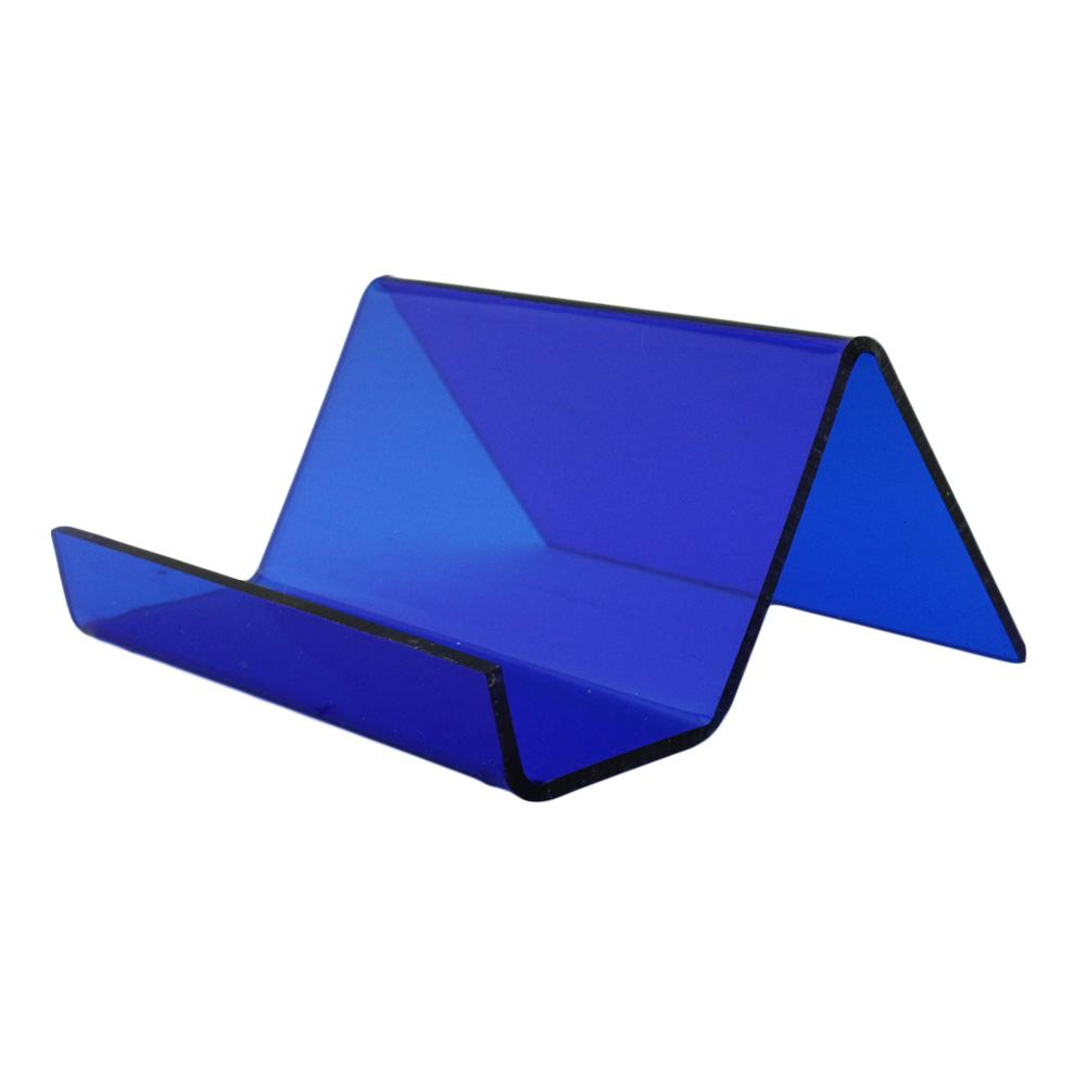 Suporte para Cartão em Acrílico PCS Azul