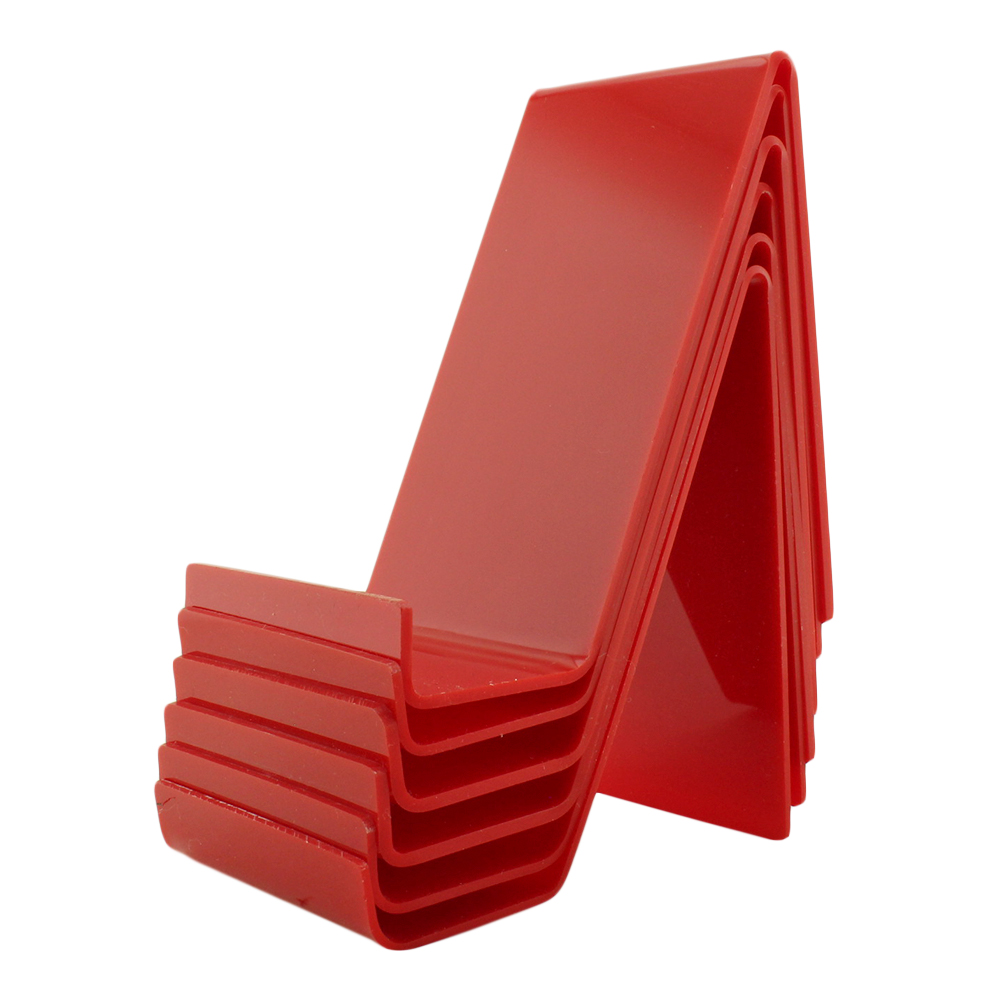 Suporte para Celular em Acrílico PCGR Vermelho com 6 Unidades
