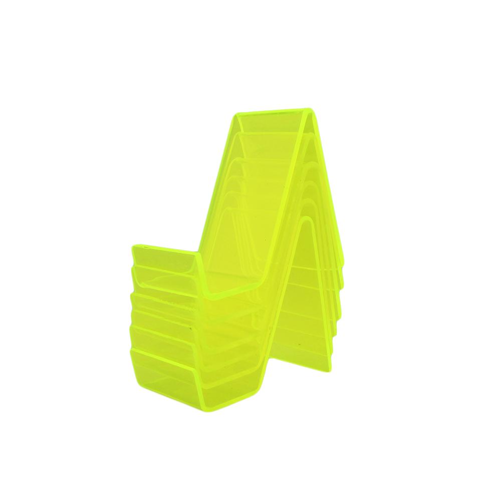 Suporte para Celular Pequeno em Acrílico PCPQ Verde com 6 Unidades