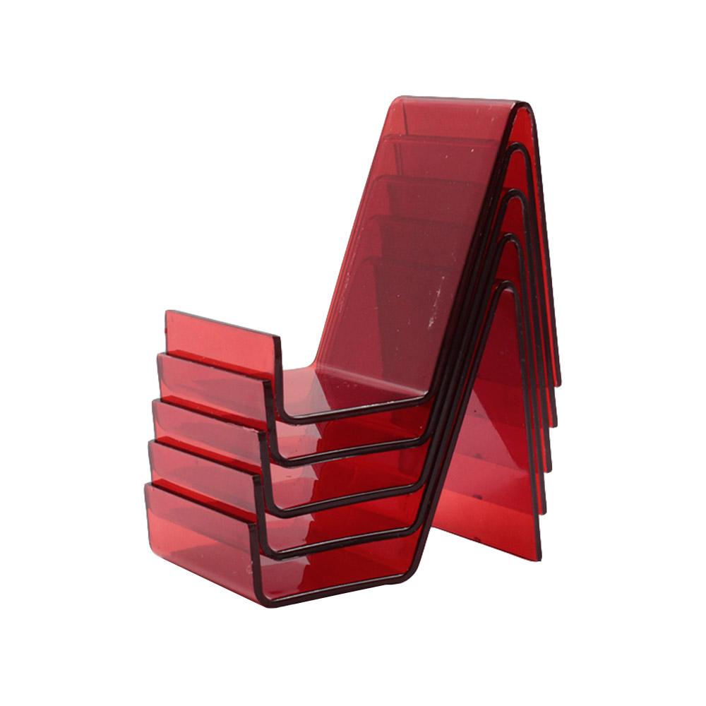 Suporte para Celular Pequeno em Acrílico PCPQ Vermelho com 6 Unidades