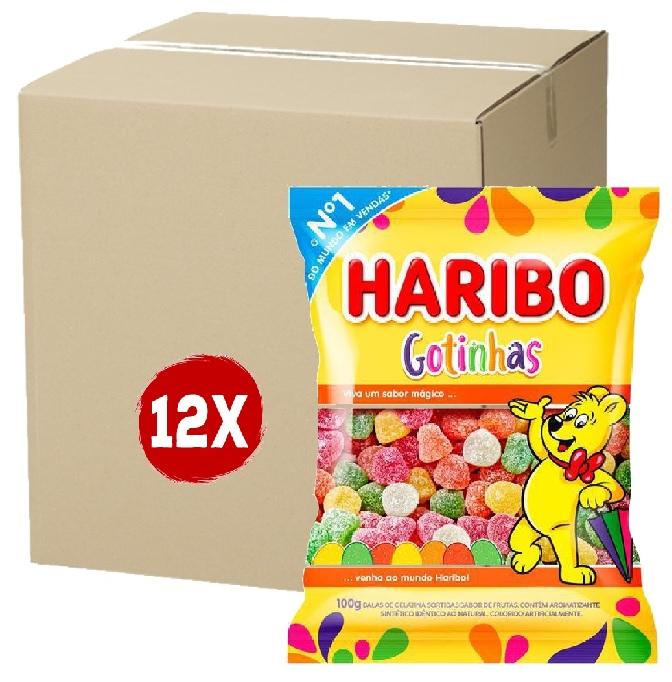 12x Bala HARIBO Gotinhas 100g