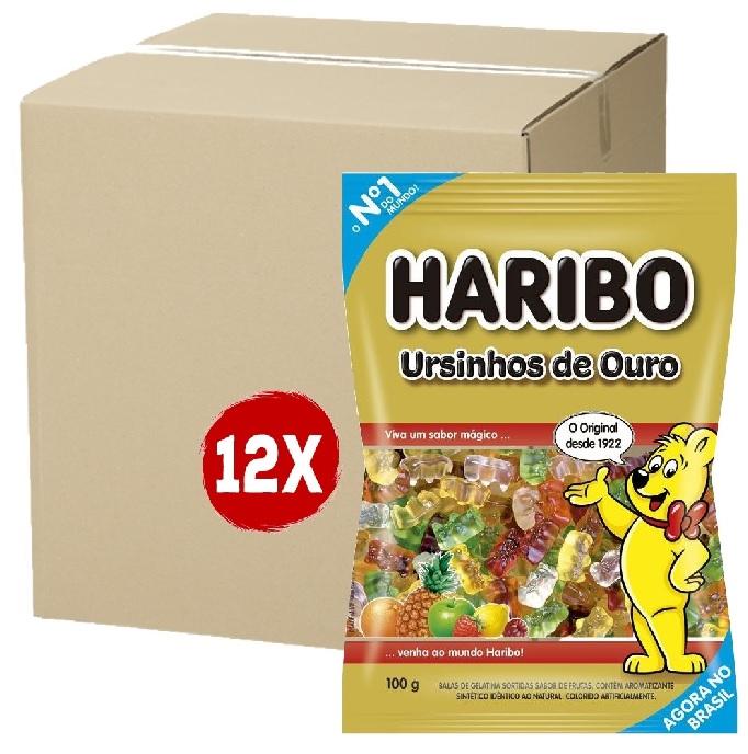 12x Bala HARIBO Ursinhos de Ouro 100g