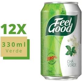 12x Chá Feel Good Verde Com Limão Lata 330ml