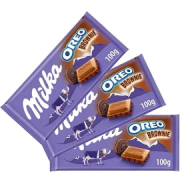 3x Chocolate MILKA Oreo Brownie 100g