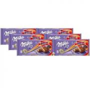 6x Chocolate MILKA Daim Cristais de Caramelo 100g