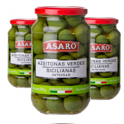 Azeitona Verde Siciliana ASARO 340ml ( 3 und )