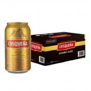 Cerveja Cusquena Golden Lager Lata 355 ml 24 unidades