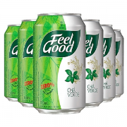 Chá Verde FEEL GOOD Lata 330ml (6 unidades)