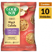 Cookies Integrais GOODSOY Maçã & Canela Display 10x33g