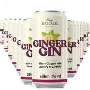 EASY BOOZE Lata Gin+Ginger 269ML (12 unidades)