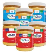 Kit 6 Manteiga Ghee Veghee Picante e com sal 200g