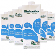 Leite Orgânico Desnatado TIMBAUBA 1 Litro ( 6 unidades )