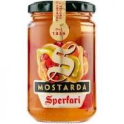 Mostarda, Frutas em Conserva (Pêssego, Figo, Pera, Cereja) SPERLARI 380g
