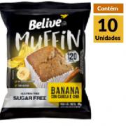 Muffin Belive Banana Canela e chia 10x40g
