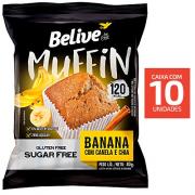 Muffin Belive Banana Canela e chia 40g ( 10 und )