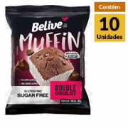 Muffin BeLive Double Chocolate ZERO 10x40g