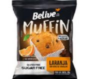Muffin BeLive Laranja com Chocolate ZERO 10x40g