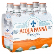 Pack 6 und Água Mineral ACQUA PANNA Natural  250ml
