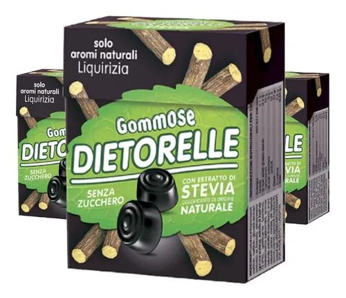 3x Bala de goma Vegana DIETORELLE Alcacuz 40g