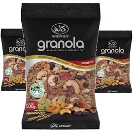 3x Granola Premium WS NATURAIS 500g