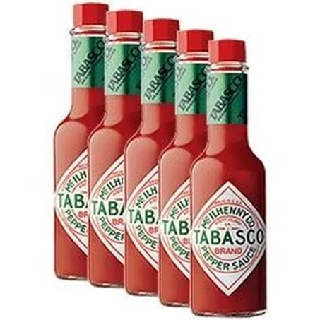 5x Molho TABASCO Red Pepper Sacuce 60ml