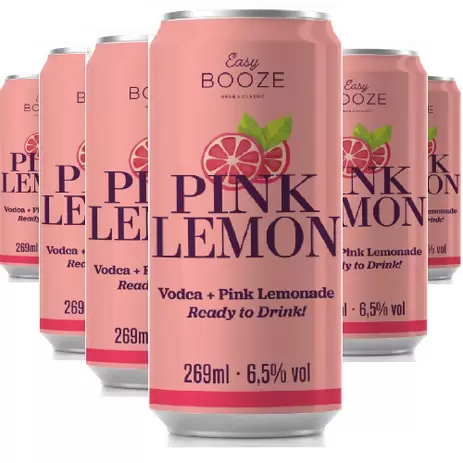6x EASY BOOZE Lata Vodka+Pink Lemon 269ML