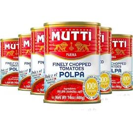 6x Tomate Mutti Picado Polpa Lata 400g