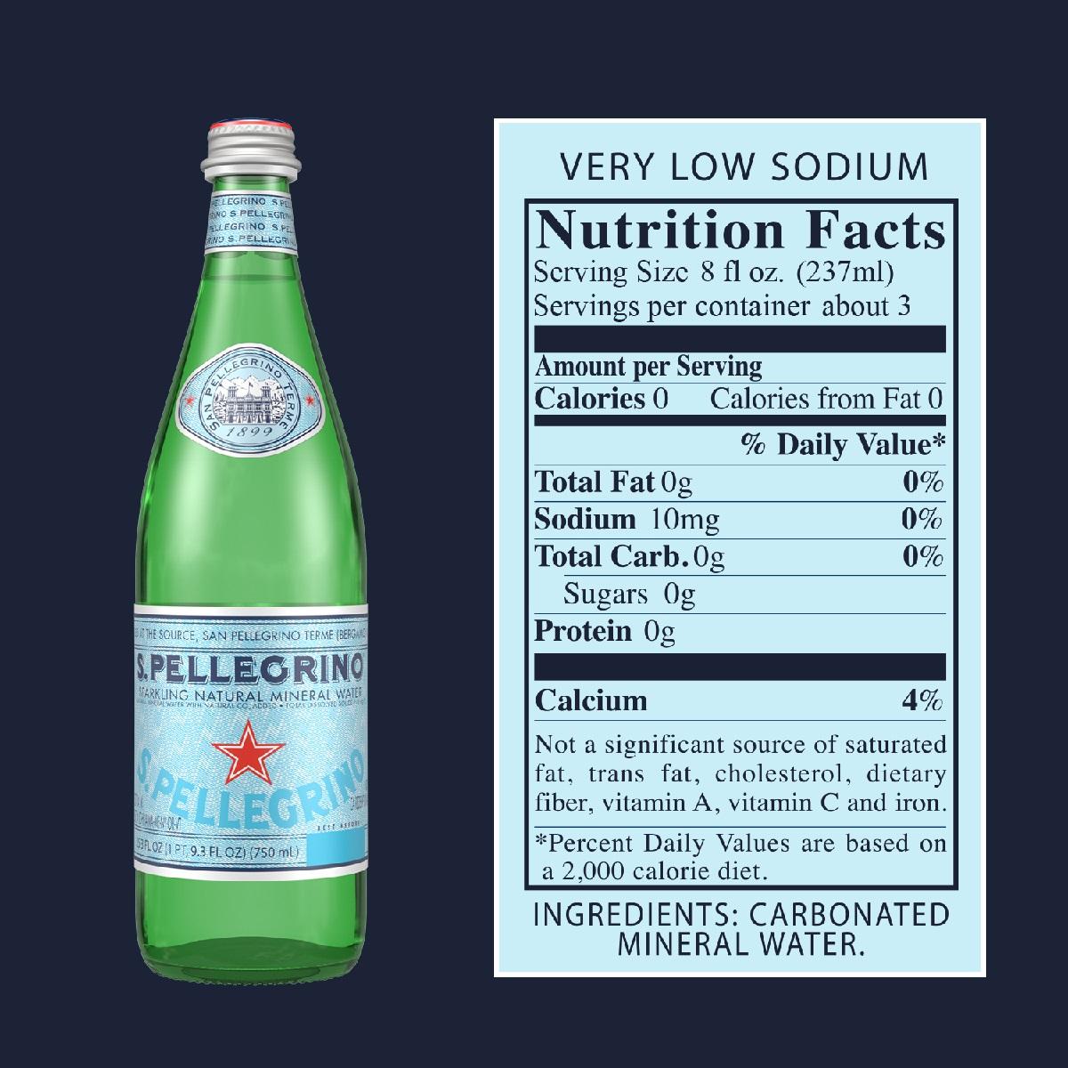 Água Mineral Com Gás SAN PELLEGRINO 750ml (15 unidades)