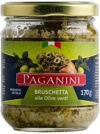 Antepasto PAGANINI Bruschetta Azeitona Verde 170g